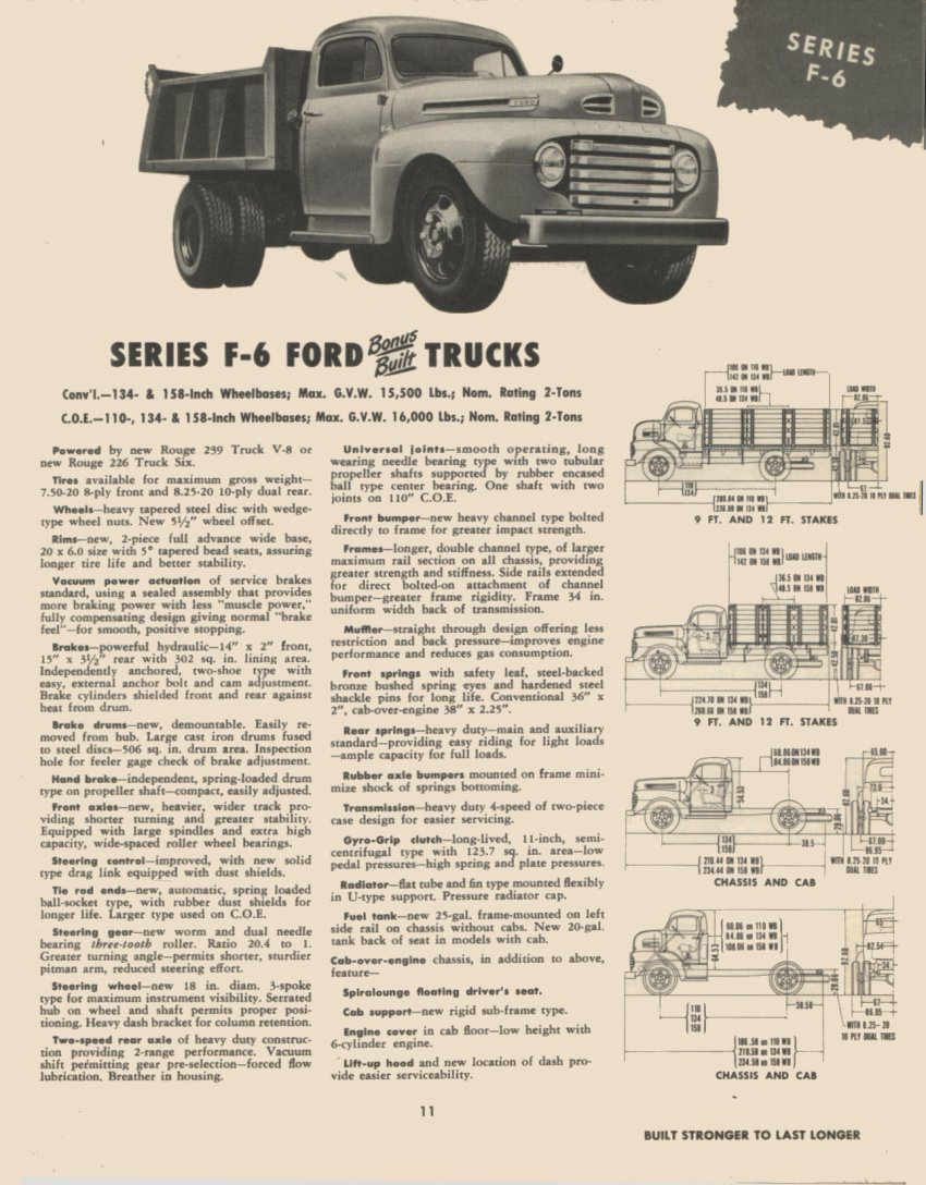 1950 F6 Trailering Dimensions Ford Truck Enthusiasts Forums 1948 Flathead 6