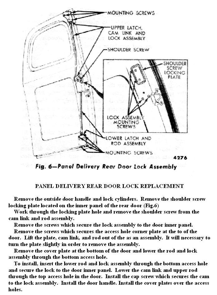 1948 Panel Truck Rear Door Latch Removal