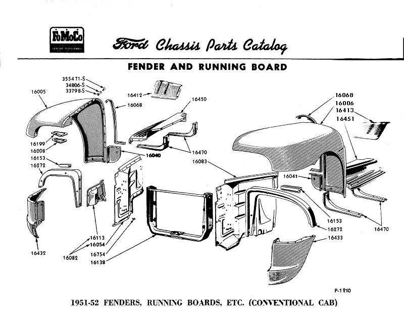 1951 ford f1 antenna location