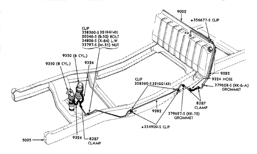 1960 fuel line routing ford truck enthusiasts forums rh ford trucks com 2003 Ford Explorer 4.0 Engine Diagram 2003 Ford Explorer Transmission Diagram