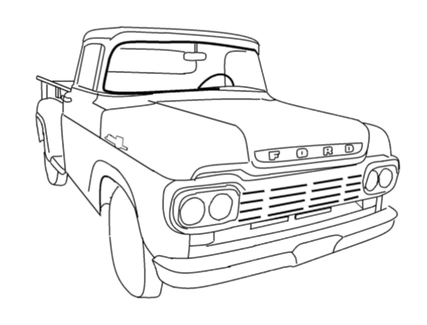Ford Powerstroke Truck Coloring Pages