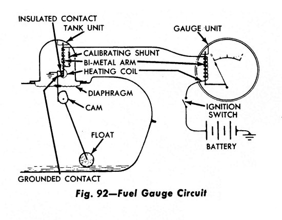 740585 Stock Fuel Gauge Modern Sending Unit on 1951 Ford Wiring Diagram