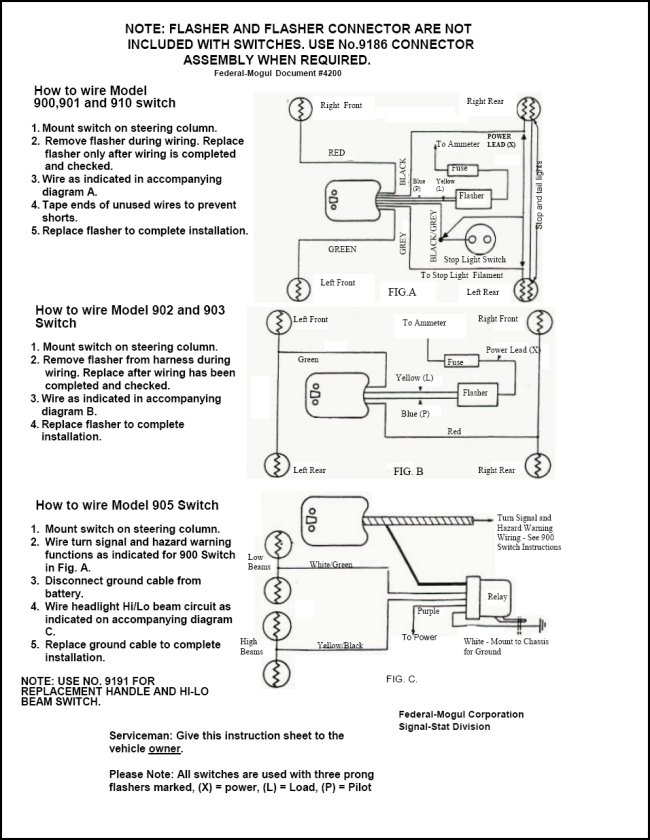 signal_1 51 ford truck turn signal wire diagram ford truck enthusiasts forums Trailer Wiring Diagram at gsmportal.co