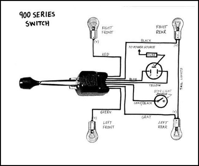 51 ford truck turn signal wire diagram ford truck enthusiasts forums. Black Bedroom Furniture Sets. Home Design Ideas